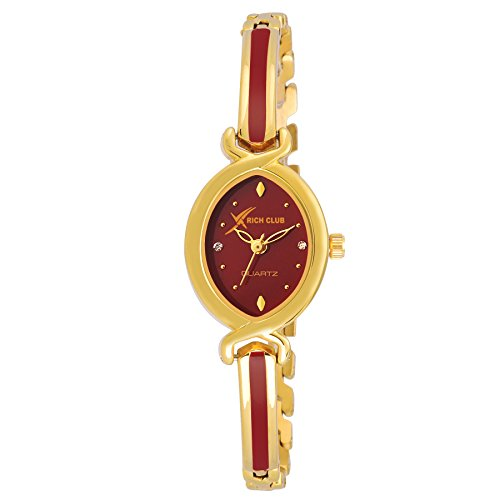 Rich Club RC-1111 Golden Florence Watch - For Women And Girls
