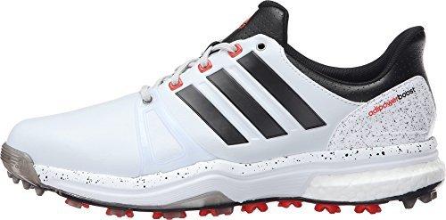 adidas , Herren Golfschuhe Clear Grey/Black/Red