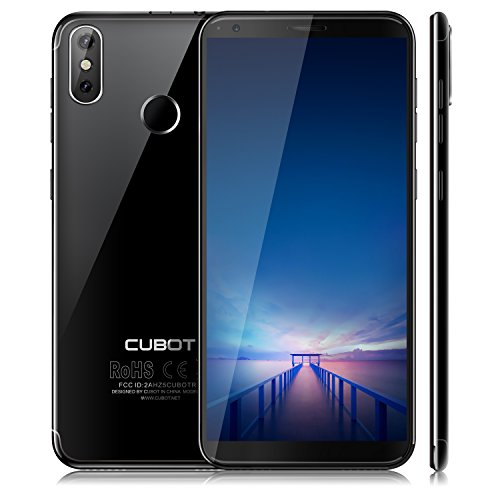 Cubot R11 (2018) Android 8.1 Oreo Dual Sim Smartphone ohne Vertrag, 5.5 Zoll (18:9) IPS HD+ Touch Display, 2GB Ram+16GB interner Speicher, 13MP+2.0MP Hauptkamera / 8MP Frontkamera, Quad-Core Prozessor, 1.3GHz, 0.1s FingerprintSensor, Benachrichtigungs-LED (Grün+Rot), 2.5D gebogener Bildschirm, nutzbares GPS, Wi-fi 2.4G, Bluetooth 4.0, Schwarz