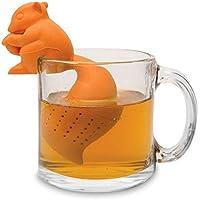 HENSONG Squirrel Shaped Silicone Tea Infuser Loose Tea Leaf Strainer Herbal Spice Filter (Orange)