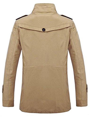 JZWXX hommes veste en coton automne hiver printemps militaire athlétisme masculin Veste vol parka veste pour hommes occasionnels trench-coat veste FR5807 kaki
