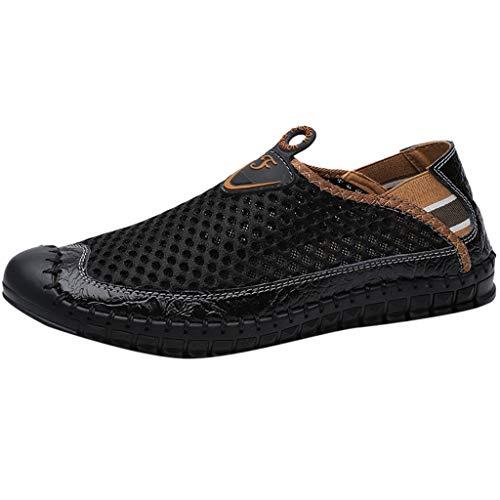 Chaussure Homme Confortable, Chaussures/Sabot de Plage Sport Piscine Sandales D'Été pour Homme Chaussures de Conduite Breathable Sports de Loisirs de Maille Loafers Bateau