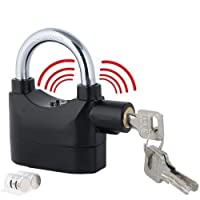 Tiru Anti Theft Burglar Pad Lock Alarm Security Siren Home Office Bike Bicycle Shop