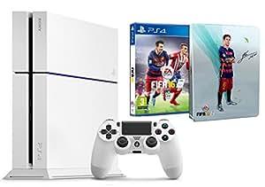 Pack PS4 blanche 500 Go + Fifa 16 + Steelbook exclusif Amazon