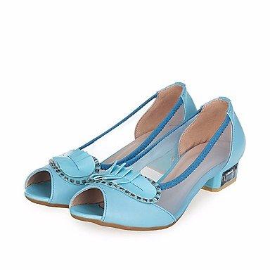 NVXZD Da donna-Sandali-Casual-Con cinghia-Quadrato-PU (Poliuretano)- Blue