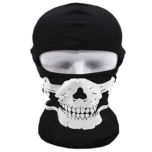 Skull Ghost Halloween Balaclava, Face Maske Für Cosplay Kostüm Outdoor Cs Kopfbedeckung Taktische Maske ()