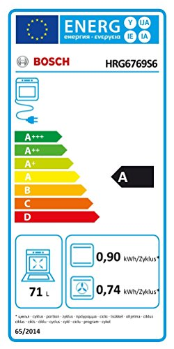 Bosch HRG6769S6 Serie 8 Backöfen / A / 71 L /4D Heißluft / PerfectRoast & PerfectBake / edelstahl