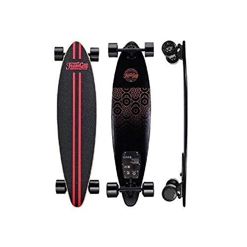TeamGee Planche à roulettes électrique Alimentation Double moteur 2x380W Longboard électrique Nouvelle Planche à roulettes électronique H6 Noir, Design de...