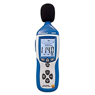 PeakTech Sound Level Meter Sound Level Measuring Meter 32000points Data Logger Data Logger with USB Interface–Sound Level dBA DBC–1P 8005