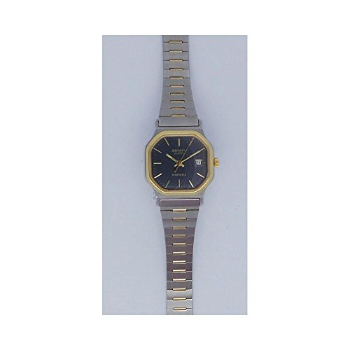 Uhr Zenith Espada 419172210Quarz (Batterie) Stahl Quandrante schwarz Armband Stahl