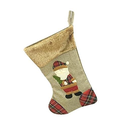 Weihnachten Geschenk Taschen, Transer® Candy Tasche mit Xmas Tree Ornament Dekoration Party Urlaub Weihnachten Santa Claus Decor Geschenke für/Halterungen Image A 20*37cm