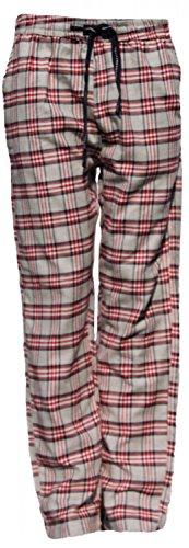 MG-1 warme Herren FLANELL Pyjamahose Schlafanzug Hose, Homewear kariert Farbwahl DESIGN 01
