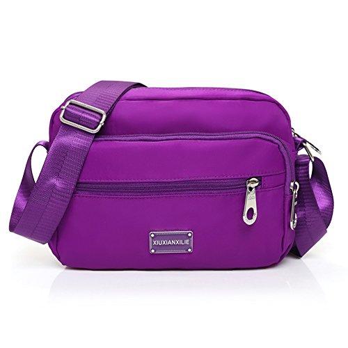panno signora Messenger Bag in Oxford/borsa a tracolla in nylon/Piccolo pacchetto di piazza/borsa di tela Casual-E B