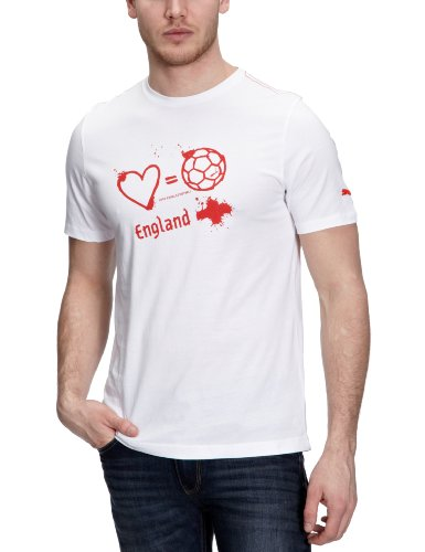 PUMA Herren T-Shirt Love=Football Country white-england