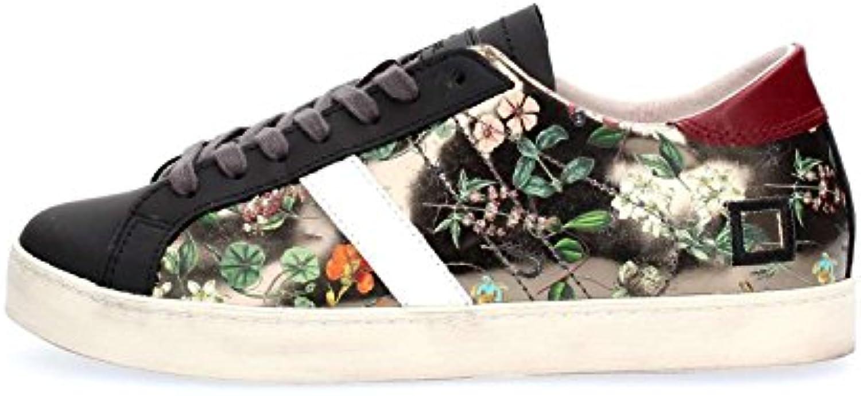 D.A.T.E.......... Date Scarpe scarpe da ginnastica Hill Low Low Low Mirror Flower Piombo, Donna, con Lacci, Floreale | Colori vivaci  4eef87
