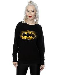 DC Comics Women's Batman Spray Logo Sweatshirt