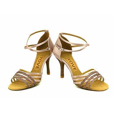 XIAMUO Anpassbare Frauen Beruf Tanz Schuhe Mandel