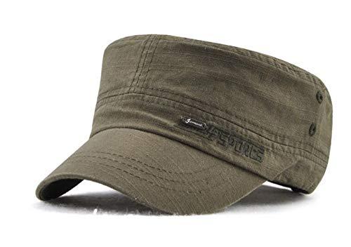 Militär-trucker Hat-cap (CHENNUO Herren Armee Militär Cap Schirmmütze Verstellbar Baseball Kappe Wandern Mütze (Grün))