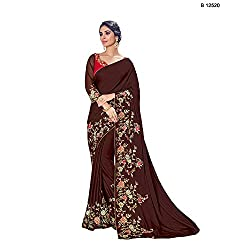 Mahotsav Party & Wedding Wear Brown Color Unstitched Lehenga Saree