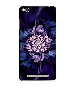 PrintVisa Designer Back Case Cover for Xiaomi Redmi 3s (Round Circular Purple Flower Painting)
