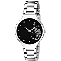 Scarter Analogue Black Dial Women's and Girl's Watch (Black)