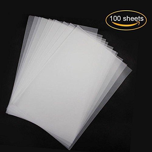 miteux Transparentpapier bedruckbar 100 Blatt Weiß Din A4 70g/qm Hochauflösend Feines Qualitätspapier Zum Basteln Skizzieren und Zeichnen