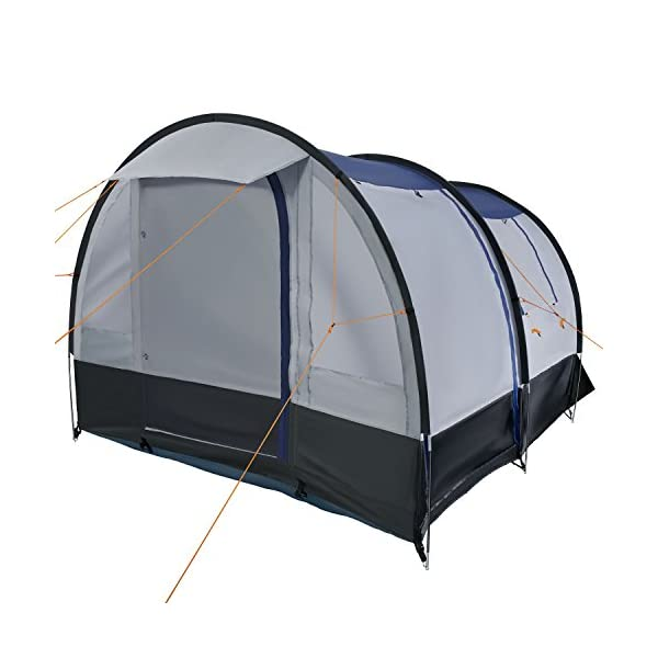 CampFeuer - Tunnel Tent, spacious Camping Tent, 510x360x210 cm, blue/grey - Version 2 2