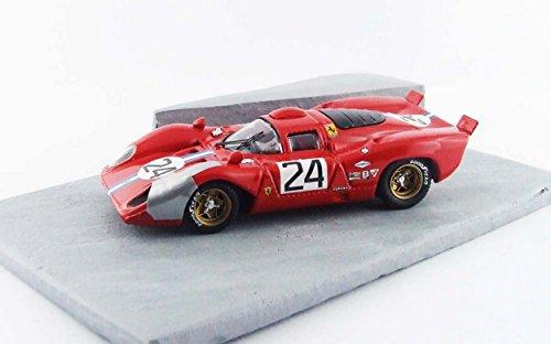 Best Model BT9609 Ferrari 312 P Coupe' 24 Daytona 1970 Parkes-Posey Diorama 1:43 Compatible avec
