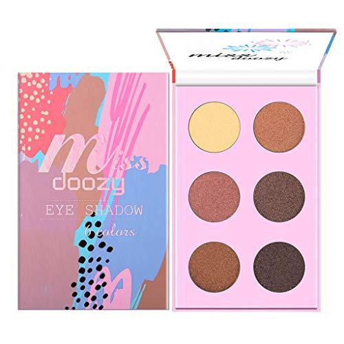 SCEMARK Damen 6 Farben Lidschatten Schminktablett Wunderschönen Makeup Tablett Bead Light Matte Makeup Dish Lidschatten