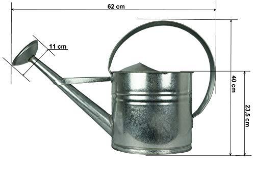 Zinkgießkanne 5 oder 10 L, Gießkanne feuerverzinkt - 8