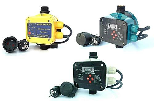 Pumpensteuerungen in verschiedenen Ausführungen mit Trockenlaufschutz. Schaltleistung bis 2,2 kW. Geeignet für Gartenpumpen, Tiefbrunnenpumpen, Hauswasserwerke usw. (CH-18A)