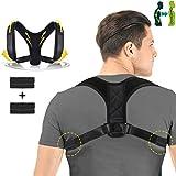 Charminer Posture Corrector,Back Support Brace Adjustable, Posture Brace Help to Improve Posture,Shoulder & Clavicle Area Pain Relief for Men & Women(Size L 37-45inch)