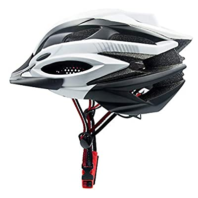 Mountain Bike Helmet, Cycle Helmet, Helmet Bike Men, helmet for ladies woman Adjustable Road Cycling Helmet lightweight as eggs, 28 Air Vents Fast Dry, Chin Protector, Insect Nets, LED Night Light from Lululeague