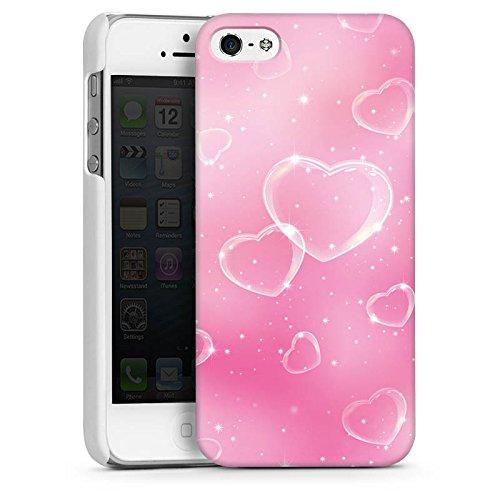Apple iPhone 5 Housse étui coque protection C½ur Amour Amour CasDur blanc