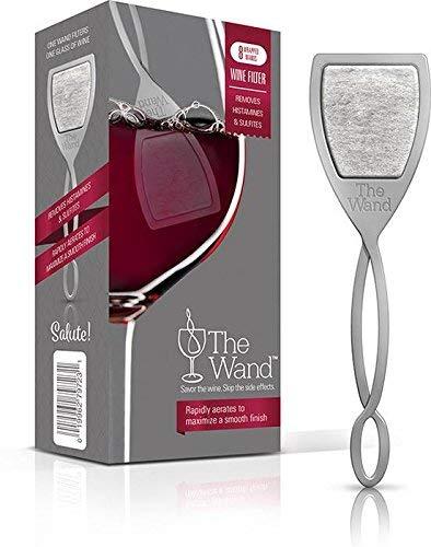 The Wand, Weinfilter, der Histamine, Sulfite und Konservierungsstoffe entfernt; genießen Sie den Wein, ersparen Sie sich die Nebenwirkungen 8 grau