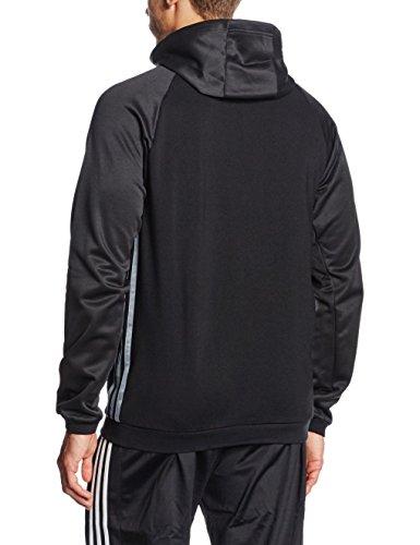 adidas Herren Kapuzenpullover Condivo 16 Fleece Kapuzenjacke Black/Vista Grey