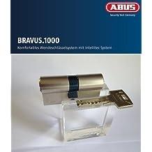 ABUS Bravus. 1000 Seguridad - Cilindro doble con 5 llaves, Largo 30/35mm con Tarjeta de seguridad y más alto Protección de copiadora, Equipo adicional: Necesario u. Función de riesgo