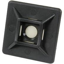Bulk Hardware BH03053 - Tie Auto Adhesivo Cable Monte, Negro (Paquete De 100)