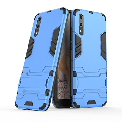 CyberKit Cover Huawei P20, Huawei P20 Doppio Strato Ibrido Cellulari custodie Design Meccanica Durevole Assorbimento Scossa Protezione Silicone Custodie con Supporto per Huawei P20