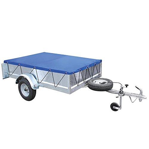 Preisvergleich Produktbild Anhänger-Flachplane mit Gummigurt 2075x1140x50mm
