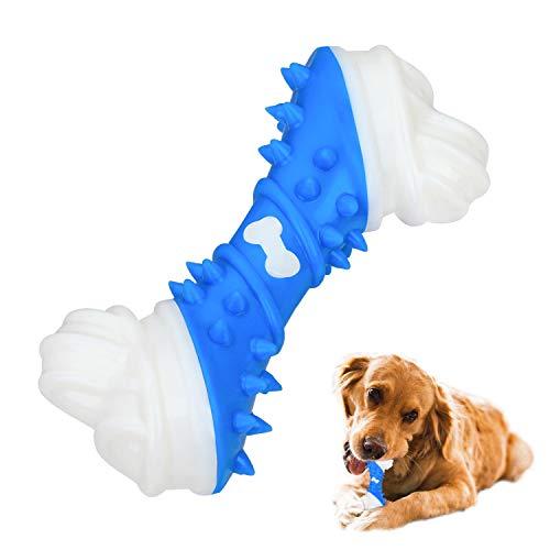 Hunde Kauspielzeug, langlebige Hunde Kauen Knochen Tough dauerhafte Gummi Welpen Kauspielzeug für große kleine Hunde (Hunde Kauspielzeug-2)