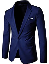 WS668 Homme Classique One-Button Mince Blazer Vest Slim Fit Coton Casual Tops Veste de Costume Outwear Mens Suit Jacket