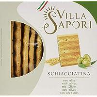 Villa Sapori - Schiacciatina con aceitunas, caja de 1,2 kg (paquete de