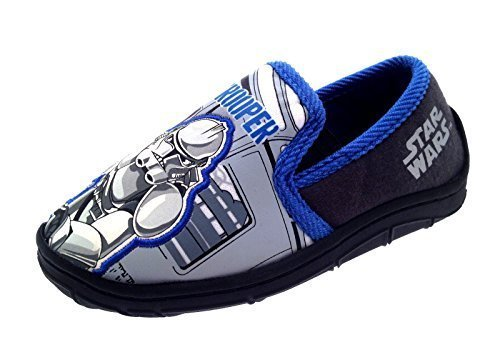 Disney Boys Kids Star Wars Clone Trooper Slippers Shoes Size UK 7