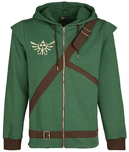 The Legend of Zelda Cosplay Zip-Hoodie Kapuzenjacke grün/braun XXL