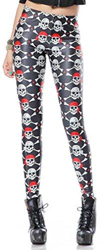 Thenice - Legging - Slim - Femme taille unique skull