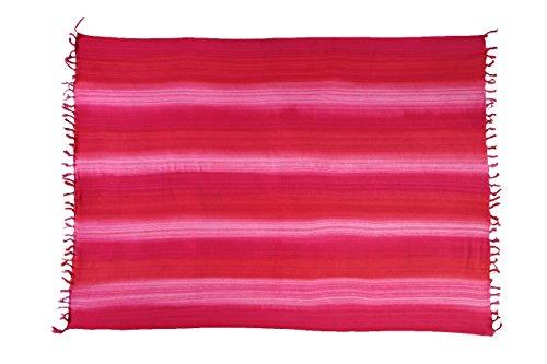 Riesen Auswahl - Alle Farben - Original Ciffre Sarong Strandtuch Wickelrock hochwertiger Strandtücher aus Bali Indonesien - Viele Farben - Pareo Designy by EL-Vertriebs GmbH SJ3 Streifen Mehrfarbig