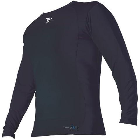 Precision - Camiseta interior de manga larga y cuello redondo negro negro Talla:30-32 pulgadas