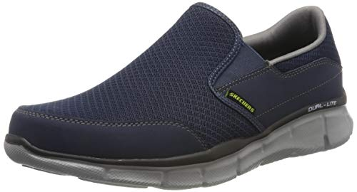 Skechers Herren Equalizer persistent Low-Top, Blau(Bleu (Nvgy)), 43 EU Allen Slip On