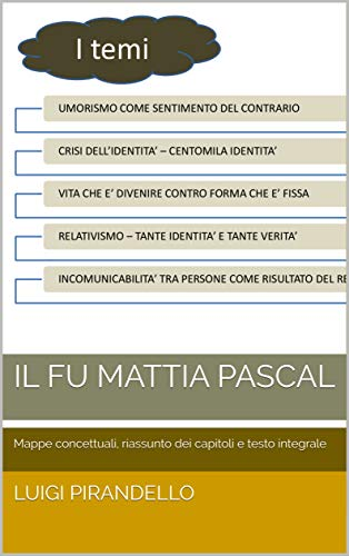 Il fu Mattia Pascal: Mappe concettuali, riassunto dei capitoli e testo integrale (Italian Edition)